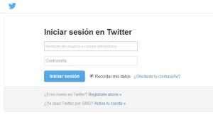 Inicio de sesión en Twitter
