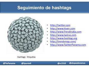 Seguimiento de hashtags